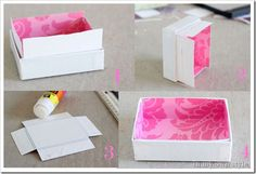 Line boxes to make your own pretty drawer organizers