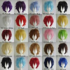 HOT SELLING!!! Fashion Straight Short Full Wigs Cosplay Party Hair Wigs #Aicos #FullWig