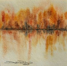 Autumn Landscape Paintings Watercolour 67 New Ideas Watercolor Paintings Abstract, Watercolor Trees, Watercolor Landscape, Abstract Watercolor, Landscape Art, Landscape Paintings, Art Paintings, Abstract Art, Watercolour Pencil Art