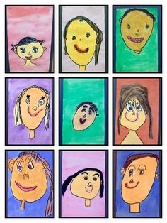 Thinking and Learning in Room 122: Exploring Self-Portraits- Kindergarten Self-portraits