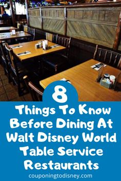 8 Things To Know Before Dining At Walt Disney World Table Service Restaurants Disney World Florida, Walt Disney World Vacations, Disney Parks, Disney World Restaurants, Disney Dining Plan, Disney World Planning, Disney World Tips And Tricks, Disney Springs, Disney Food