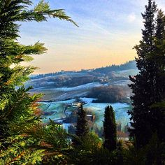 Un velo di neve sui colli bolognesi, Dozza - Instagram by my_italy