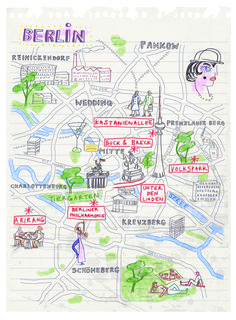 Berlin map by Robert Littleford. February 2015 issue