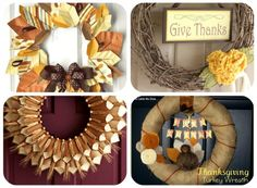 elegant Thanksgiving Wreath tutorials