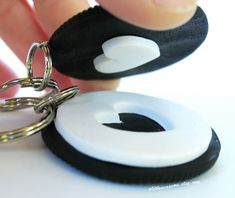 Best Friend Keychains Oreo Cookie Keychain by Alittleawesome, $14.00