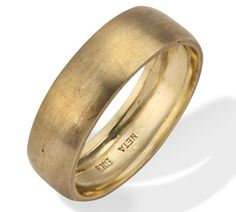 Gold Vintage Wedding Ring side view