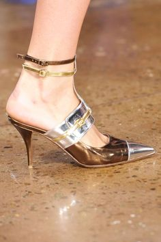 Tabitha Simmons for Peter Som. Tabitha Simmons, Kitten Heels, Fashion Show, Runway, Menswear, Couture, David, Shoes, Spring