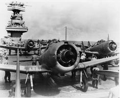 SBD-2 and 3's of Bombing Squadron Five VB-5 and Scouting Squadron Five VS-5 pictured on the flight deck of USS Yorktown CV-5 June 1942
