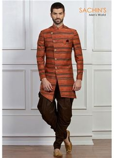 Looking for stylish designer pathani kurta pajama online? Sachin's have an extensive range of pathani kurta pajama for men. We Deliver all our clothing across India and the USA. Mens Indian Wear, Mens Ethnic Wear, Indian Groom Wear, Indian Men Fashion, Mens Fashion Suits, Men's Fashion, Wedding Kurta For Men, Wedding Dresses Men Indian, Wedding Dress Men