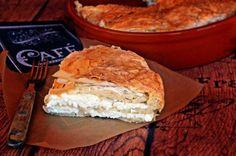 Sós túrós burek, a legegyszerűbb   Rupáner-konyha Cake Recipes, Dairy, Lunch, Cheese, Dinner, Food Ideas, Drinks, Dining, Drinking