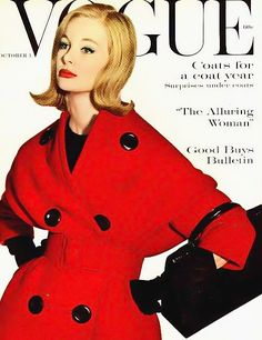 Monique Chevalier, American Vogue cover by Irving Penn, Oct.1, 1959