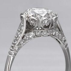 Edwardian Engagement Ring European Diamond