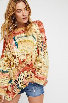 Slide View 1: Sherbert Crochet Pullover