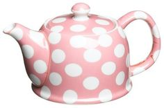 Yedi Houseware Classic Coffee and Tea White Dots 20 Ounce Teapot - Lenny's Alice in Wonderland shop