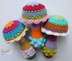 Ravelry: mushroom baby rattle pattern by nungki martika