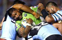 2015 NRL Rd 1 - Cronulla Sharks v Canberra Raiders - Frank Paul Nuuausala
