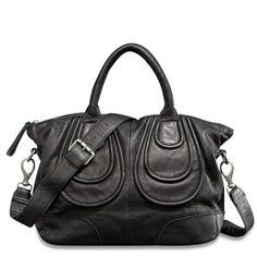 a48b7acfee92 Liebeskind Berlin - Bags - Helene black vintage Leather Satchel Handbags