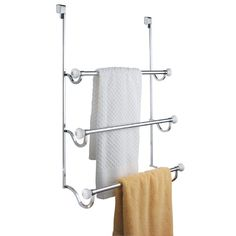 InterDesign's #York #Over the Shower Door Towel Rack features classic style. It has 3 bars for storage and fits over the shower door for easy installation - no to...