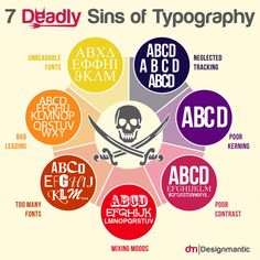 7 Deadly Sins of Typography Infographic