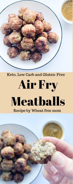 Making meatballs in the air fryer is a great idea! Meatballs Recipe Fried, Sausage Meatballs, Making Meatballs, How To Make Meatballs, Gluten Free Recipes, Low Carb Recipes, Air Fry Recipes, Baked Chicken Wings, Meatball Recipes