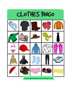 http://waytomasterenglish.blogspot.com/2016/01/clothes.html  clothes, bingo, game
