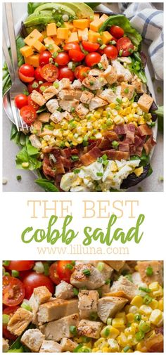 This simple cobb salad is so full of tasty ingredients it's a meal all on it's own. It is quick to make and utterly delicious. #cobbsalad #salad #healthy #maindish #saladrecipes Easy Delicious Recipes, Easy Salad Recipes, Entree Recipes, Easy Salads, Lunch Recipes, Healthy Recipes, Tasty, Summer Salads, Healthy Meals