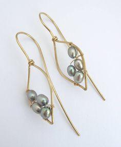 Silver Pearl Leaf Hoops                                                                                                                                                                                 More