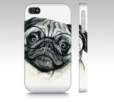 Pug phone case for iPhone 4/ 4S 5/ 5S Samsung by MimoCadeaux, $34.00