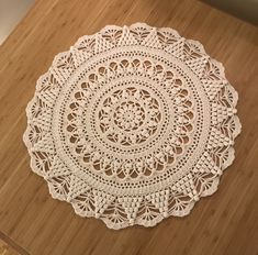 Ravelry: Ella´s Spring Doily pattern by Lifestyle By Ella /Elisabeth Laitila Crochet Mandala Pattern, Crochet Doilies, Crochet Patterns, Thread Crochet, Crochet Crafts, Diy Crafts, Crochet Carpet, Crochet Cozy, Crochet Kitchen
