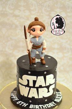 Star Wars cake Rey topper  Rey Star Wars  Birthday cake Www.Facebook.Com/sugarpearlbakery