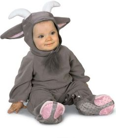 Rubie s Billy the Goat newborn romper. This Billy the Goat newborn romper  is perfect for your baby s halloween fun! Billy goat costume is made of  soft grey ... d63b44a74