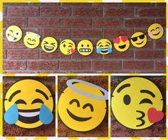 Decoraciones de Emoji Emoji garland-Emojis por 2inspiredcrafters