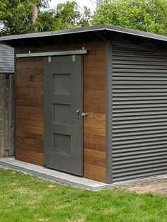 Essential Garden Shed Backyard Storage Sheds, Backyard Sheds, Outdoor Sheds, Shed Storage, Backyard Patio, Backyard Landscaping, Shed Design, Patio Design, Garden Design