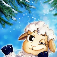 Подмигивающая овечка