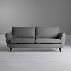 Buy John Lewis Warwick Cushion Back Medium Sofa, Camber Steel Online at johnlewis.com