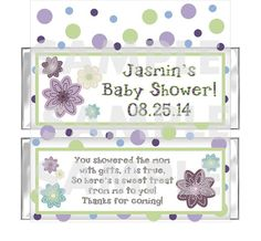 Cocalo Plum Dandy Baby Nursery candy bar wrappers by myhtmdesigns, $9.99