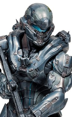 "Amazon.com: McFarlane Toys Halo 5: Guardians 10"" Spartan Locke Amazon Exclusive Figure (Un-Helmeted Version): Toys & Games"