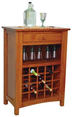 wine bar buffet and storage cabinet with center glass and wine rack side shelves and open focal point shelf walnut kitchen pinterest storage