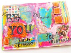 In person art journaling workshop with Carolyn Dube called Letting Yourself Play