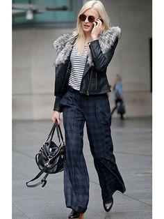 Fearne Cotton channels Gwen Stefani in tartan trousers and heels
