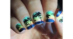 Nail Art Tropical par Nibsouille