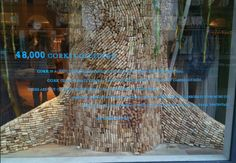 Cork Wine Tree | Anthropologie Window