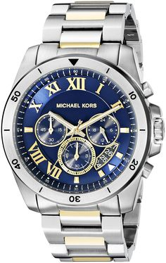 Michael Kors Men's Brecken Two-Tone Watch MK8437