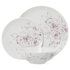 George Home Noir Porcelain Dinner - Set - 12 Piece | View all Kitchen & Dining | ASDA direct