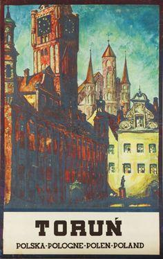 Stefan Norblin (1892 Warszawa - 1952 San Francisco) Toruń, 1930 r. rotograwiura/papier, 100 x 62 cm