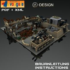 Custom Instructions SdKfz 7 Ruin Wehrmacht Bunker WWII Tank Out of Lego® Brick | eBay