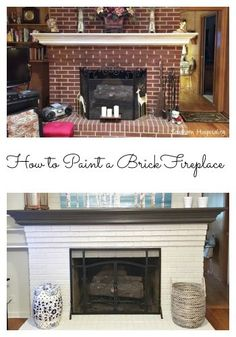 How To Paint A Brick Fireplace 1950 S House Update More