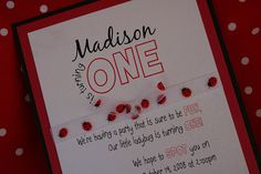 Ladybug 1st Birthday Invitations by invitationsink, via Flickr