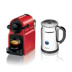 Centre du Rasoir : Nespresso C40REPK Cafetière Espresso Inissia avec Aeroccino Plus - Rouge