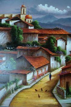 Paisajes Mexicanos Para Pintar Paisajes Mexicanos Al Oleo Sobre Lienzo Pintura Mexicana Al Oleo Paisaje De Belas Pinturas Pinturas Paisagens Imagens Coloridas